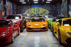 Bên trong garage siêu xe hoành tráng của giới đại gia Việt
