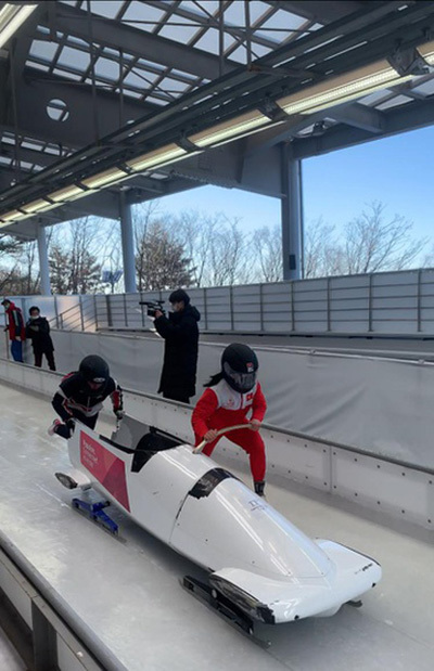 Bobsleigh athletes work hard to make Olympic dream