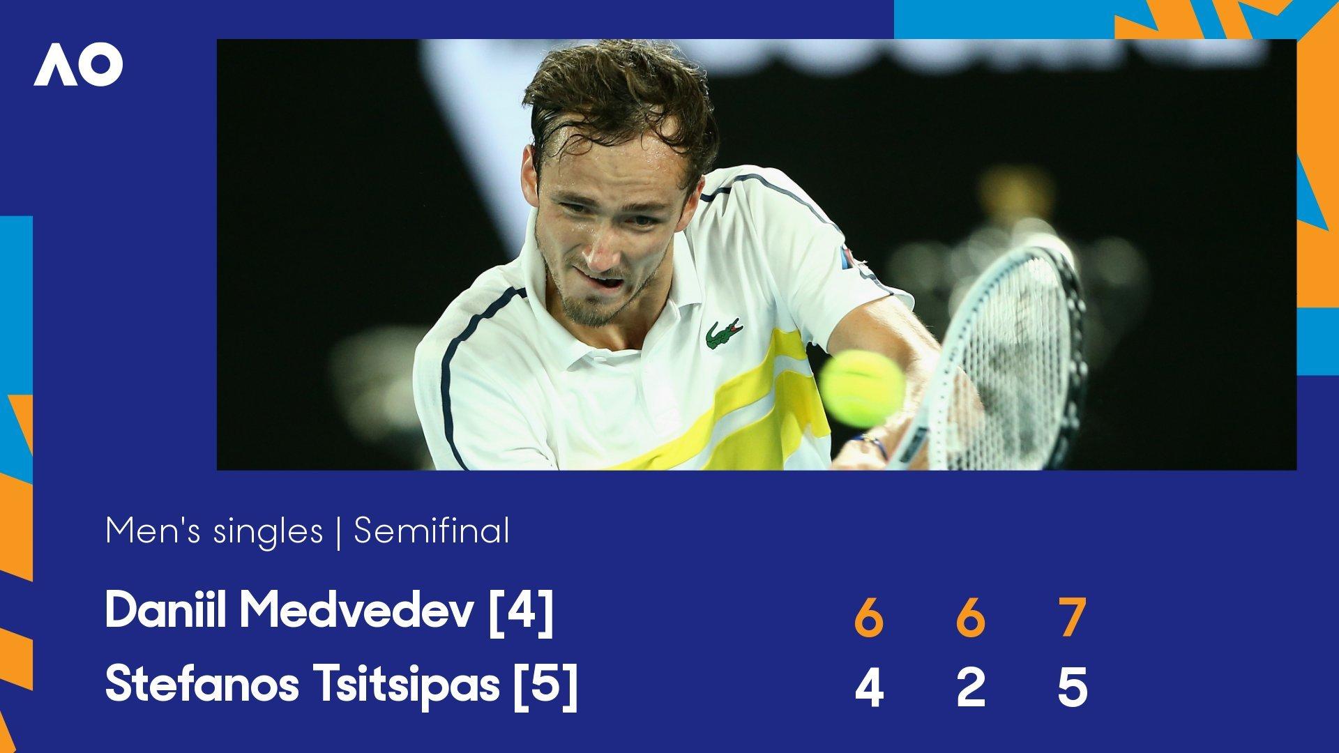 Medvedev lần đầu tiên vào chung kết Australian Open