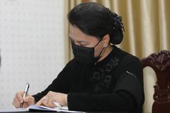 Những lời xúc động trong sổ tang nguyên Phó Thủ tướng Trương Vĩnh Trọng