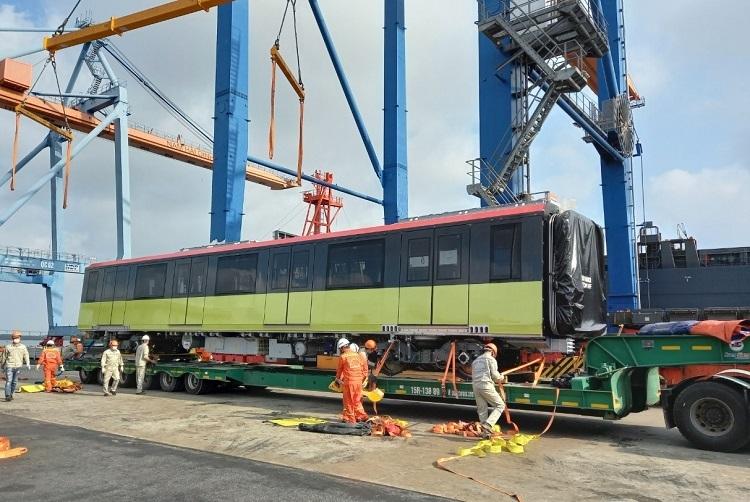 Đoàn tàu thứ 3 của đường sắt Nhổn - Ga Hà Nội đã về Việt Nam