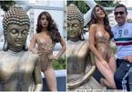 Hoa hậu Mexico bị chỉ trích vì mặc phản cảm bên tượng Phật