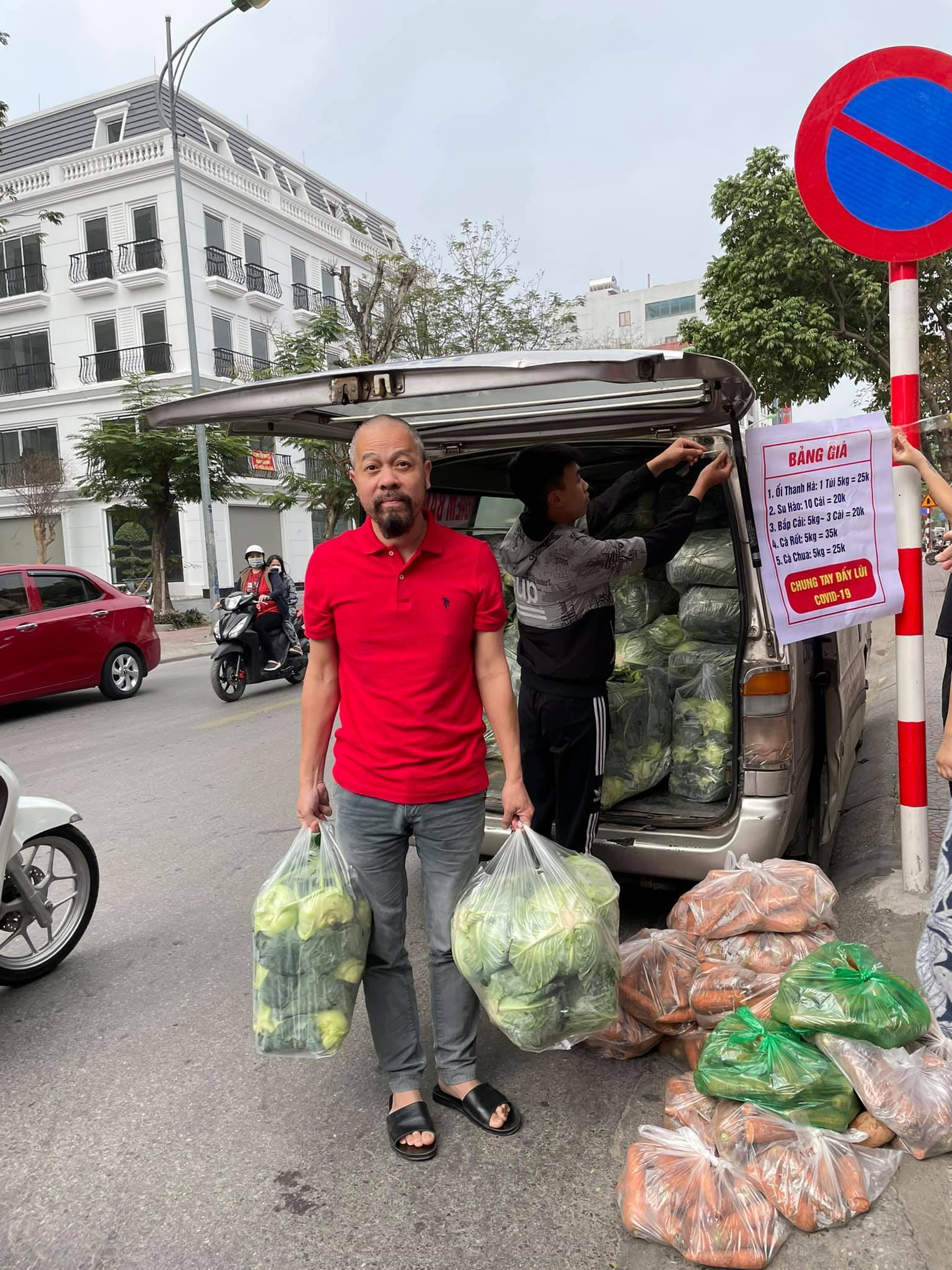 Hồng Diễm, Đại Nghĩa, Lê Dương Bảo Lâm giải cứu nông sản Hải Dương