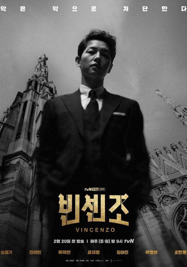 Rating của Vincenzo tăng mạnh, Song Joong Ki 'nguy hiểm bậc nhất'