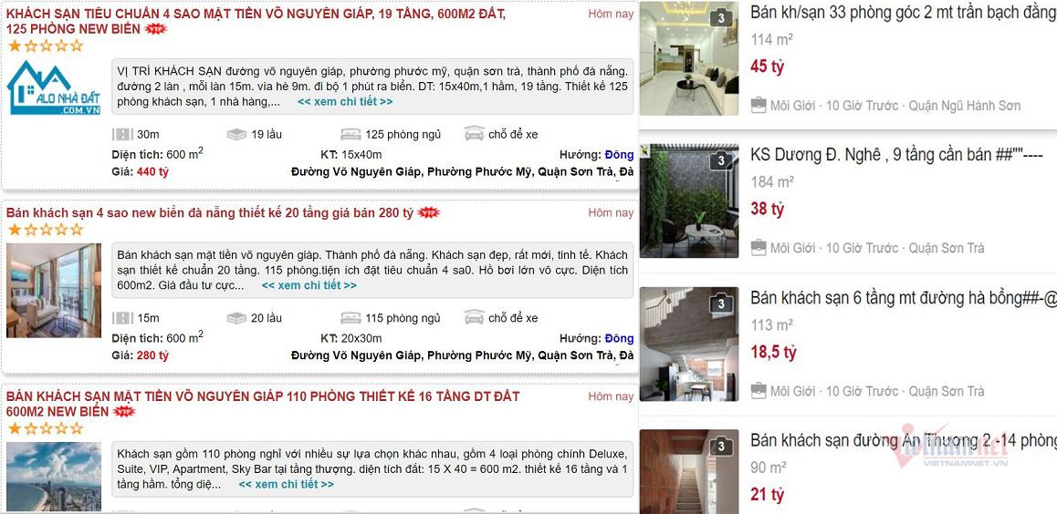 Chịu không nổi, đại gia Hà Nội bán rẻ khách sạn trăm tỷ ở Đà Nẵng cắt lỗ