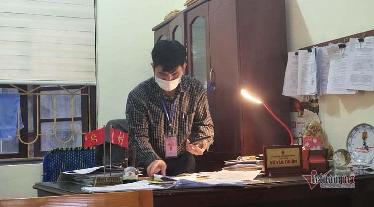 Một ngày, một xã tại Cẩm Giàng xử phạt 15 trường hợp vi phạm phòng chống dịch