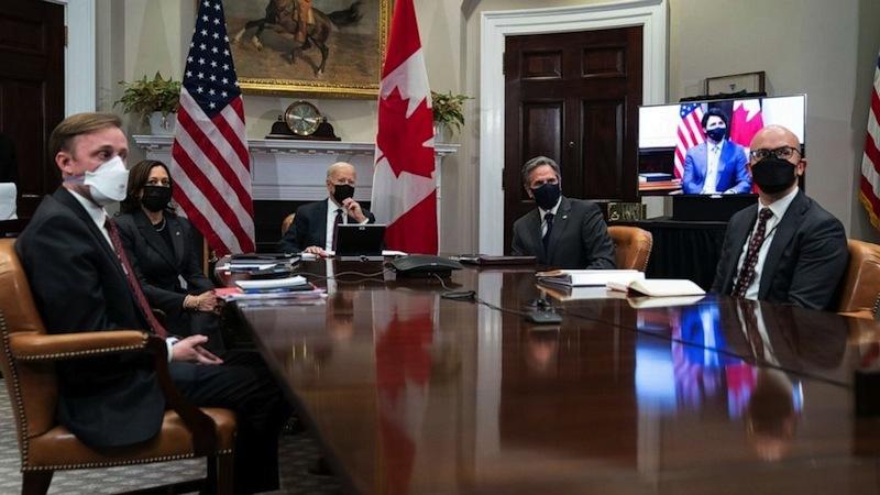 Lãnh đạo Mỹ-Canada hội đàm trực tuyến, quyết cài đặt lại quan hệ