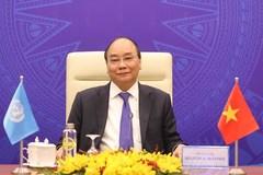 Thủ tướng Nguyễn Xuân Phúc phát biểu tại phiên họp Hội đồng Bảo an