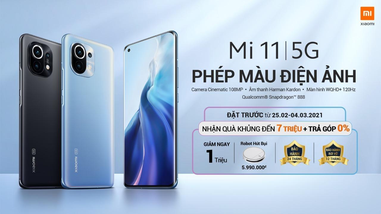 Có thể đặt hàng Xiaomi Mi 11 5G từ ngày 25/2