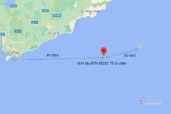 Tìm thấy 1 thi thể vụ thuê tàu ra biển câu cá ở Bình Thuận