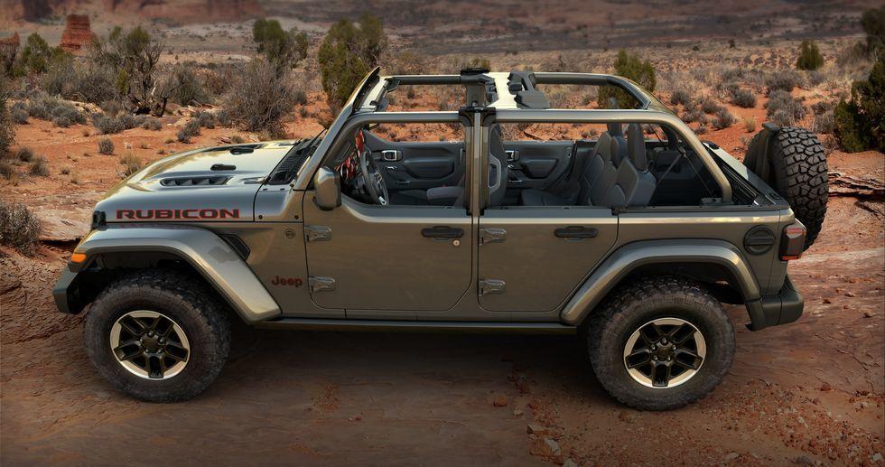 Xe địa hình Jeep Wrangler có thêm tuỳ chọn Half-Doors