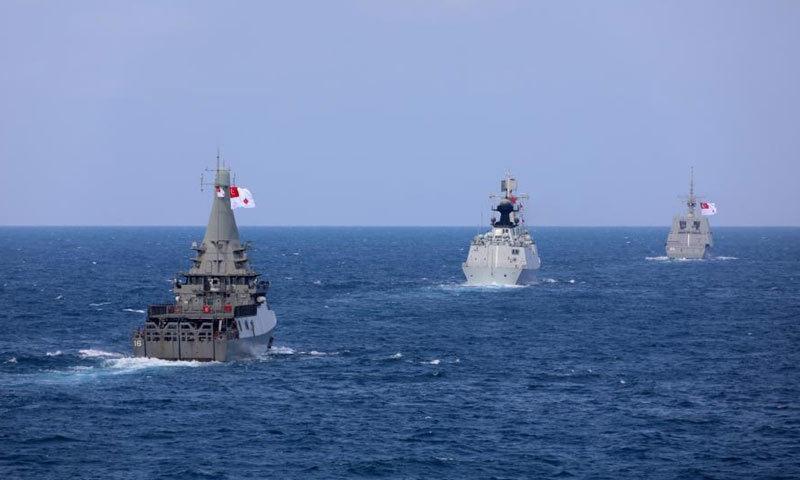 Hình ảnh cuộc tập trận trên biển giữa Trung Quốc và Singapore