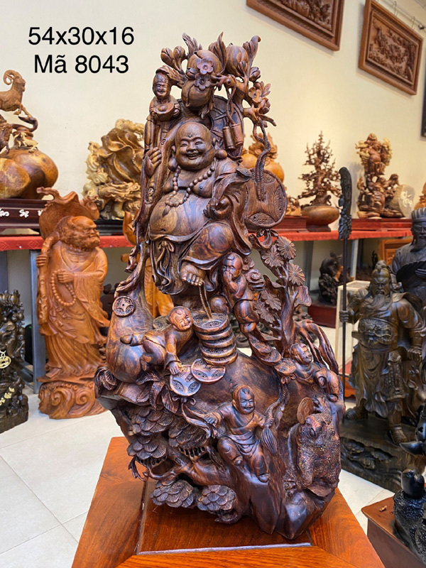 Tượng gỗ Đẹp Live 'được lòng' tín đồ nội thất phong thủy