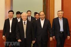 Bộ Chính trị gặp mặt các vị nguyên Ủy viên Bộ Chính trị, Ban Bí thư, Trung ương
