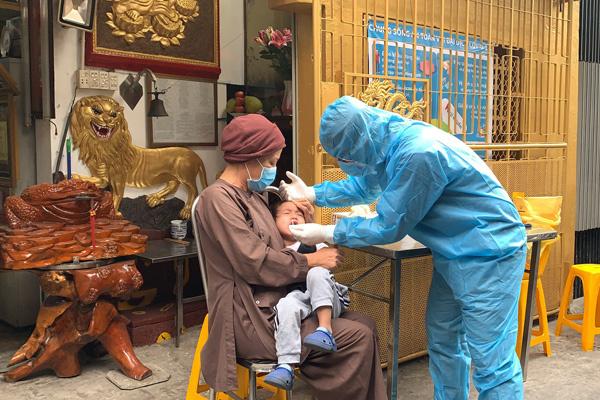 55 người tại chùa Thiên Khánh có kết quả âm tính nCoV