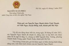 Toàn văn thư Thủ tướng Nguyễn Xuân Phúc khen ngợi anh Nguyễn Ngọc Mạnh