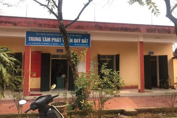 Bắt Giám đốc Trung tâm phát triển quỹ đất ở Yên Bái