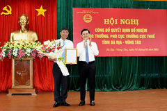 Lãnh đạo Cục thuế TP.HCM làm Cục trưởng tại Bà Rịa-Vũng Tàu