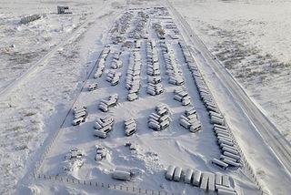 """Thị trấn """"'ma' phủ đầy tuyết trắng, tĩnh lặng như thời gian bị 'đóng băng'"""