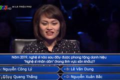 Câu hỏi về NSND Công Lý làm khó người chơi 'Ai là triệu phú'