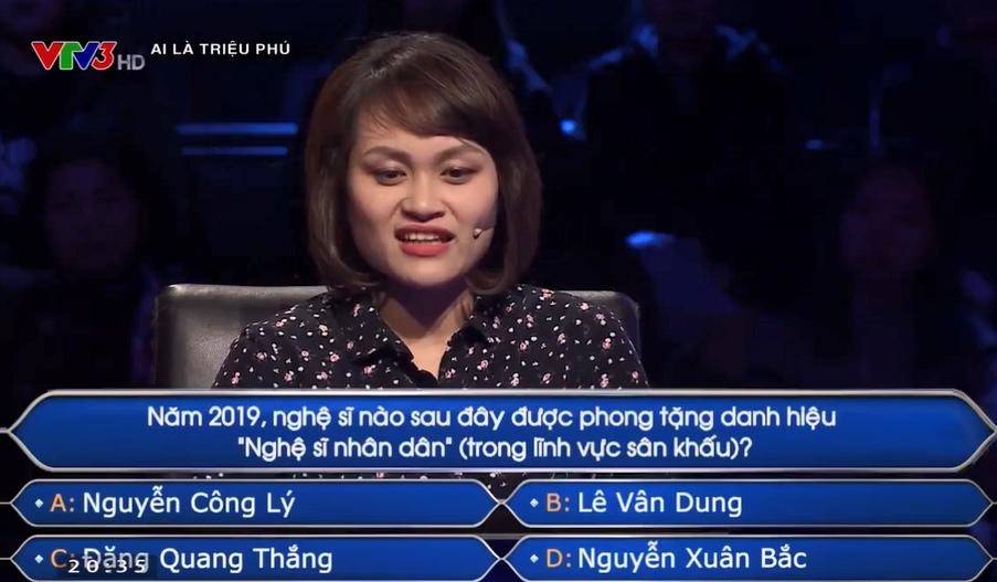 cau hoi ve nsnd cong ly lam kho nguoi choi ai la trieu phu Câu hỏi về NSND Công Lý làm khó người chơi 'Ai là triệu phú'