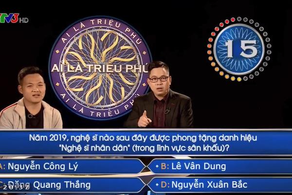 untitled 3 Câu hỏi về NSND Công Lý làm khó người chơi 'Ai là triệu phú'