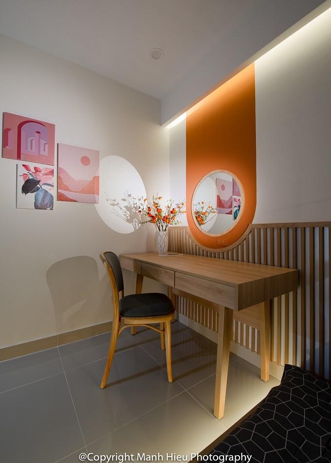 Căn hộ màu cam đất phong cách Nhật Bản cho gia chủ mệnh Hỏa