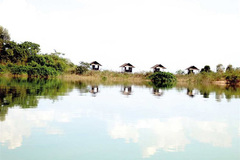 """""""Private"""" islets on Tri An Lake"""