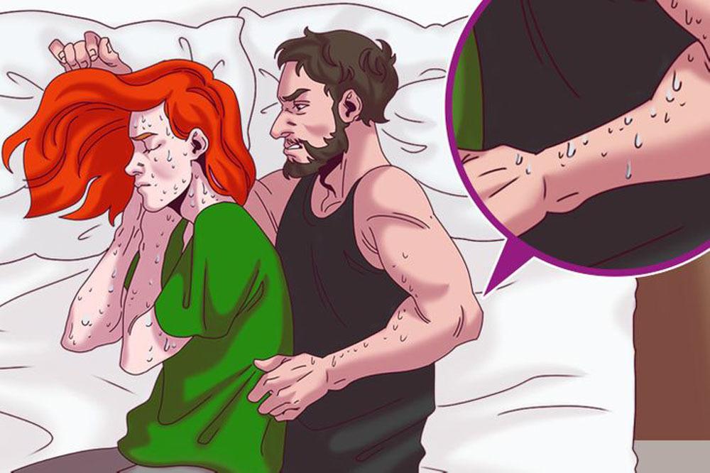 Bảyrắc rối của các cặp vợ chồng khi chung giường