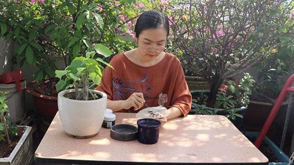 fig leaves,Buddhism,folk paintings