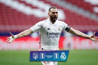 Benzema giúp Real thoát thua Atletico phút chót