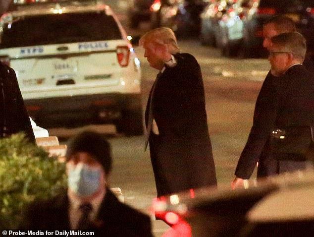 Ông Trump lần đầu tiên trở lại New York sau khi mãn nhiệm