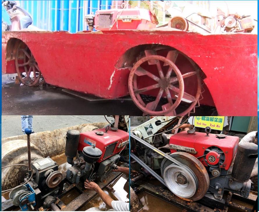 Người đàn ông Sài Gòn chế tạo xe cứu hỏa trong hẻm nhỏ