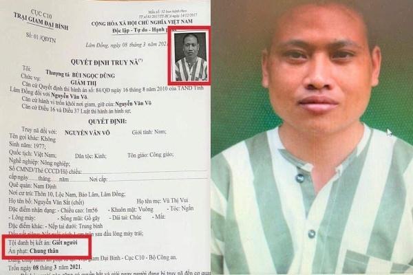 Truy nã phạm nhân bỏ trốn khỏi trại giam ở Lâm Đồng
