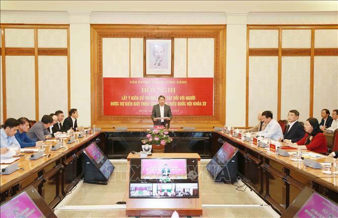 Giới thiệu Tổng Bí thư Nguyễn Phú Trọng ứng cử Quốc hội khóa XV