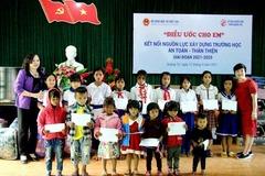 """""""Điều ước cho em"""" đến với học sinh Quảng Bình, Quảng Trị"""