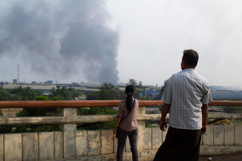 Hàng chục nhà máy Trung Quốc ở Myanmar bị tấn công