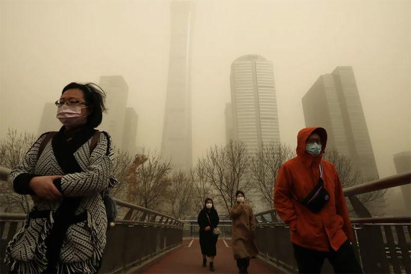 Hình ảnh ô nhiễm không khí đáng sợ ở Bắc Kinh