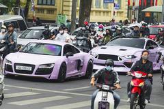 Dàn siêu xe triệu USD tụ họp cuối tuần tại Hà Nội