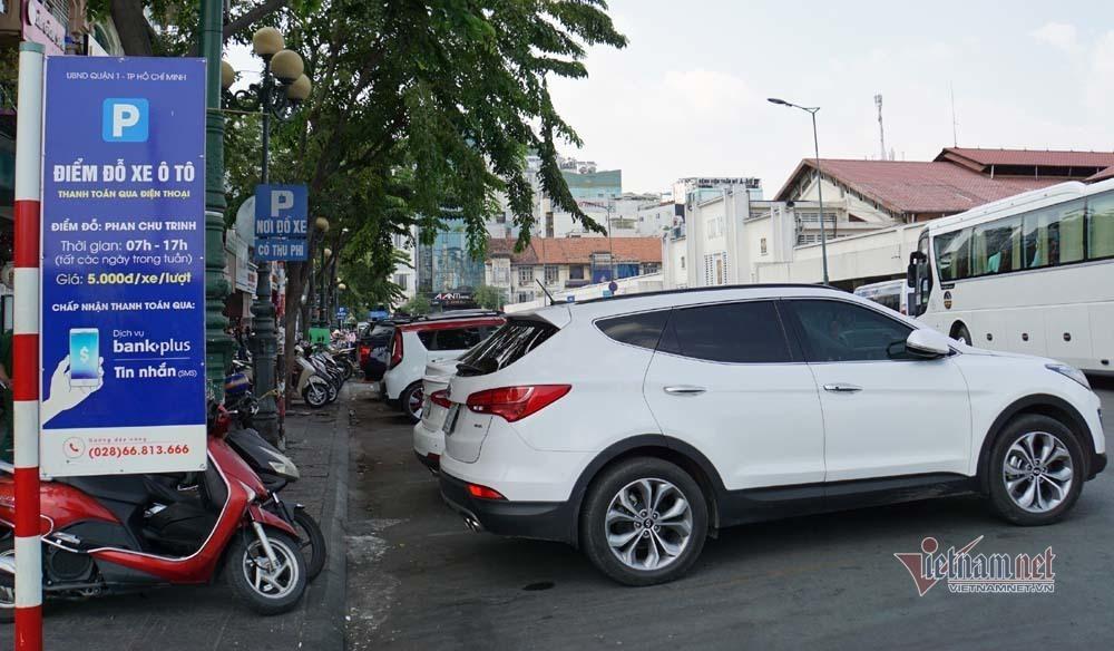 TP.HCM khoan lỗ lắp cảm biến để quản lý thu phí đậu xe