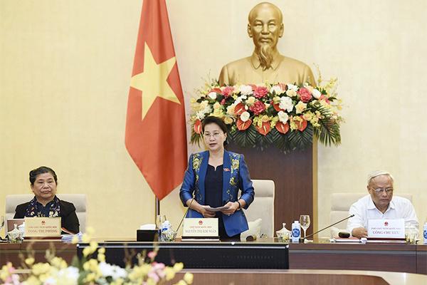 Chủ tịch Nguyễn Thị Kim Ngân chia sẻ nhiều cảm xúc cuối phiên họp Thường vụ Quốc hội