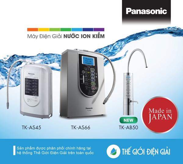 Máy lọc nước ion kiềm Panasonic TK-AB50 hút khách Việt