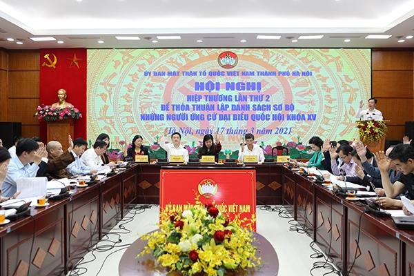 Hà Nội nhất trí danh sách sơ bộ 72 ứng cử viên đại biểu Quốc hội