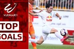 Bàn thắng đẹp nhất vòng 3 V-League: Văn Toàn đấu Tiến Linh