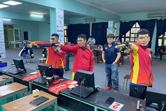 Marksman Tran Quoc Cuong shoots for Olympic slot in India