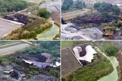 Phủ bạt núi chất thải nguy hại hàng nghìn tấn giữa thành phố Thái Nguyên