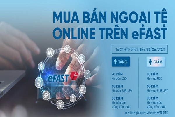 Ưu đãi cho DN giao dịch mua bán ngoại tệ qua VietinBank eFAST