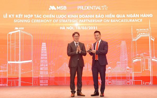 MSB và Prudential Việt Nam ký kết hợp tác chiến lược kinh doanh bảo hiểm