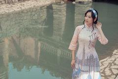 Bộ sưu tập áo dài lấy cảm hứng từ mùa thu nước Ý