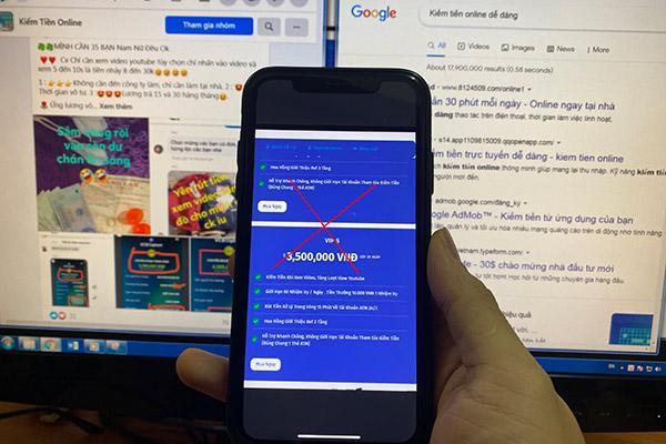 Loạn 'ma trận' website kiếm tiền online lừa đảo